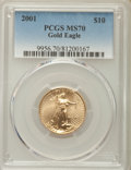 Modern Bullion Coins, 2001 $10 Quarter-Ounce Gold Eagle MS70 PCGS....