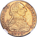 Colombia, Colombia: Charles III gold 8 Escudos 1772 NR-VJ XF40 NGC,...