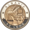 Albania, Albania: People's Republic silver Proof Piefort 50 Leke (10 oz) 1988 Gem Proof,...