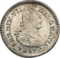 Chile, Chile: Ferdinand VII 1/2 Real 1817 So-FI AU55 NGC,...