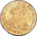 Chile, Chile: Charles III gold 8 Escudos 1776/3 So-DA XF40 NGC,...