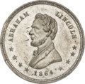 Political:Tokens & Medals, Abraham Lincoln: 1864 Lincoln Campaign Medal....