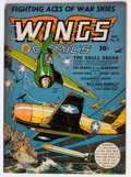 Golden Age (1938-1955):War, Wings Comics #27 (Fiction House, 1942) Condition: VG/FN....