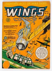 Wings Comics #25 (Fiction House, 1942) Condition: VG/FN