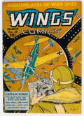 Golden Age (1938-1955):War, Wings Comics #19 (Fiction House, 1942) Condition: FN/VF....
