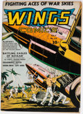 Golden Age (1938-1955):War, Wings Comics #23 (Fiction House, 1942) Condition: FN....