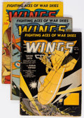Golden Age (1938-1955):War, Wings Comics Group of 4 (Fiction House, 1941) Condition: AverageGD+.... (Total: 4 Comic Books)