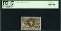 Fr. 1290 25¢ Second Issue PCGS Gem New 65PPQ