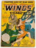 Golden Age (1938-1955):War, Wings Comics #26 (Fiction House, 1942) Condition: VG/FN....