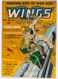Golden Age (1938-1955):War, Wings Comics #14 (Fiction House, 1941) Condition: FN+....
