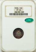 1903 10C PR64 NGC. CAC. NGC Census: (67/85). PCGS Population (68/79). Mintage: 755. CDN Wsl. Price for problem free NGC/...