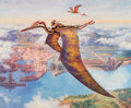 Memorabilia:Science Fiction, James Gurney Dinotopia: Skybax Rider Signed Limited Edition Lithograph Print #2019/3500 (Greenwich Workshop, 1992)...