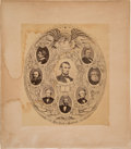 Photography:CDVs, Abraham Lincoln: Presidential Cabinet Albumen by Brady....