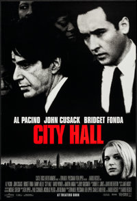 """City Hall (Columbia, 1996). One Sheets (50) Identical (27"""" X 40"""") SS Advance. Drama. ... (Total: 50 Items)"""