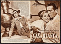 "Movie Posters:Academy Award Winners, Casablanca (Warner Brothers, 1952). First Post War Release GermanProgram (4 Pages, 7"" X 10.25""). Academy Award Winners.. ..."