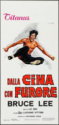 "Movie Posters:Action, The Chinese Connection (Titanus, 1973). Italian Locandina (13"" X27.75""). Action.. ..."