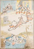 Original Comic Art:Miscellaneous, Carl Barks Go Slowly Sands of Time Storybook Painting #12 Preliminary Artwork Original Art (c. 1975)....