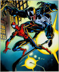 Original Comic Art:Miscellaneous, Mark Bagley and Larry Mahlstedt Capital City Open HouseFlyer Production Art Painted Color Guide Spider-Man versus...