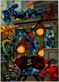 Original Comic Art:Miscellaneous, Rom Lim, Terry Austin, and Paul Mounts Marvel Universe IVPainted Production Color Guide Original Art (Marvel/Sky...