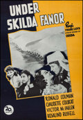 "Movie Posters:Adventure, Under Two Flags (20th Century Fox, R-1947). Swedish One Sheet(27.5"" X 39.5""). Adventure.. ..."