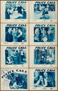 "Movie Posters:Crime, Police Call (Showmens Pictures, 1933). Lobby Card Set of 8 (11"" X14""). Crime.. ... (Total: 8 Items)"