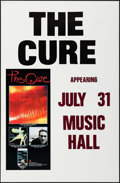 "Movie Posters:Rock and Roll, The Cure (Elektra Records, 1987). Concert Poster (24.5"" X 37.5""). Rock and Roll.. ..."