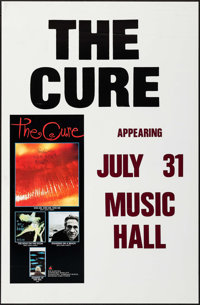 """The Cure (Elektra Records, 1987). Concert Poster (24.5"""" X 37.5""""). Rock and Roll"""