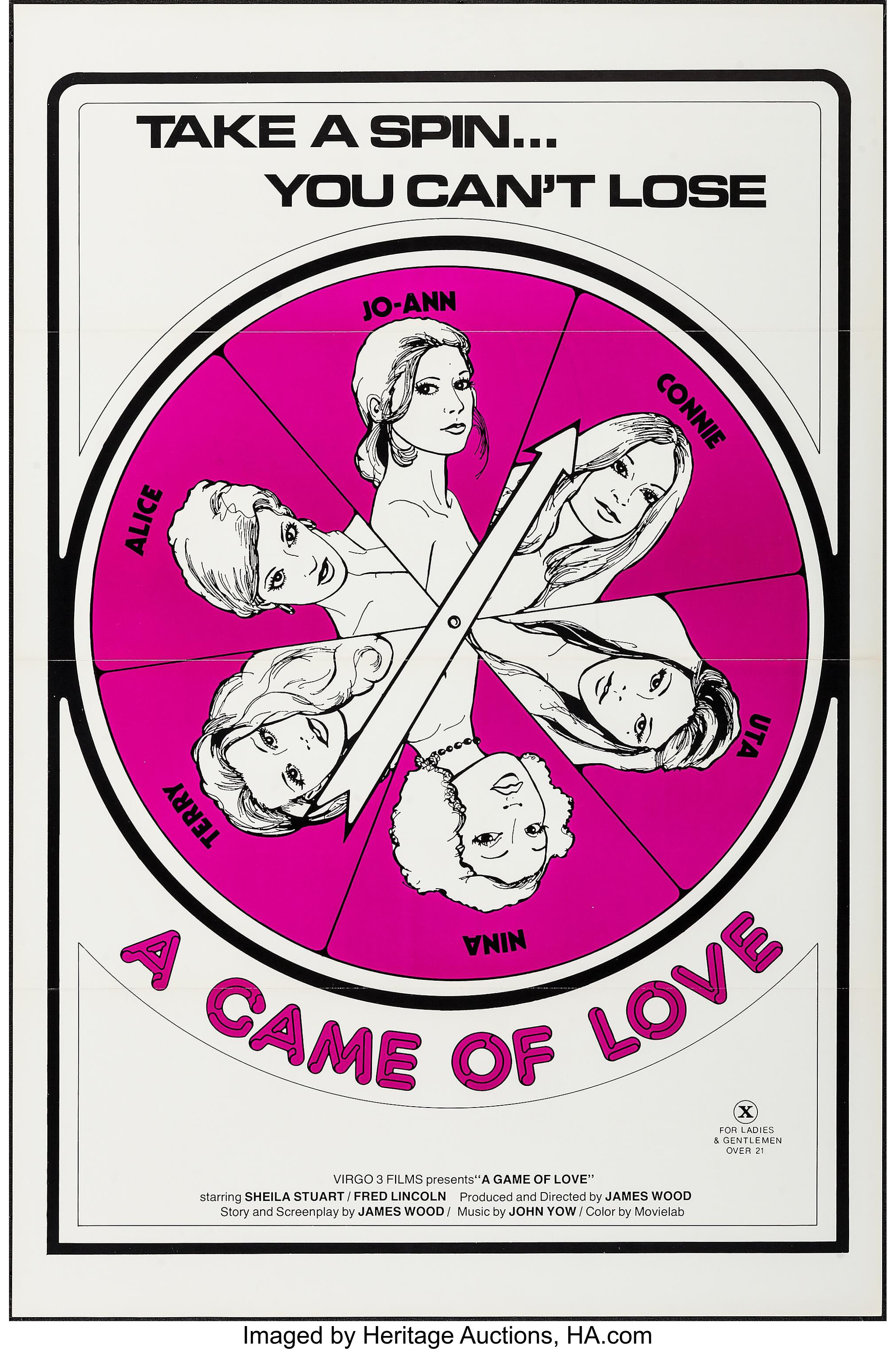 Game Of Love Sheets a game of love & others lot (virgo 3 films, 1974). one