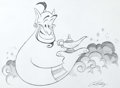 Animation Art:Production Drawing, Eric Goldberg - Aladdin's Genie Illustration (undated)....