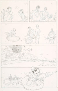 Frank Quitely and Jamie Grant All Star Superman #6 Story Page 12 Original Art (DC, 2007)