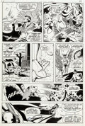 Original Comic Art:Panel Pages, George Perez and John Beatty Justice League of America #195Story Page 22 Original Art (DC, 1981)....