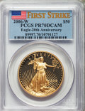 Modern Bullion Coins, 2006-W Three-Piece First Strike One-Ounce Gold American Eagle Set.... (Total: 3 coins)