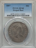Early Half Dollars, 1807 50C Draped Bust, O-106, T-6, R.3, XF40 PCGS....