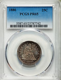 Proof Seated Quarters, 1886 25C PR65 PCGS. Briggs 2-B....