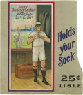 Baseball Collectibles:Others, 1912 Boston Garter (H813) Advertising Sign. No other issue can boast a higher value per card than the sixteen-card set once...