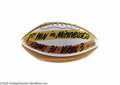 Football Collectibles:Balls, 1968 Los Angeles Rams First Win in Minnesota Team Signed Football. It took seven years (following the Vikings' emergence on...