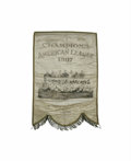 Baseball Collectibles:Others, 1907 Chicago White Sox Large World Championship Banner. Fabulous Dead Ball relic honors the reigning World Champion Chicago...