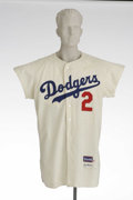 "Baseball Collectibles:Uniforms, 1969 Wally Moon Game Worn Jersey. Famous for his ""Moon shots"" as a player with the Cardinals and Dodgers, Wally suited up d..."