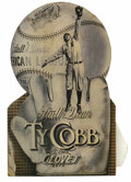 "Baseball Collectibles:Others, 1920's Ty Cobb ""Stall and Dean"" Advertising Display. With the lastsighting of this piece at auction remaining the 1999 Bar..."