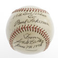 Autographs:Baseballs, 1972 Joe McCarthy Single Signed Baseball. He called the shots foreveryone from Cuyler and Hornsby to Ruth and Gehrig to Wi...