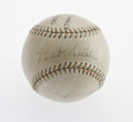 Autographs:Baseballs, Late 1920's Babe Ruth & Lou Gehrig Signed Baseball. It has beenpostulated that the Pittsburgh Pirates, upon witnessing the...