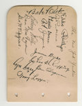 Autographs:Others, 1932 New York Yankees Team Signed Sheets with Ruth & Gehrig.The essence of Depression era autograph collecting is embodied...