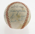 Autographs:Baseballs, 1960's Jackie Robinson, Gil Hodges Signed Baseball. An intriguingassortment of top Major League Baseball talent join force...