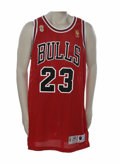 Basketball Collectibles:Uniforms, 1996-97 Michael Jordan N.B.A. Finals Game Worn Jersey. While anyChicago Bulls jersey sanctified by the touch of His Airnes...