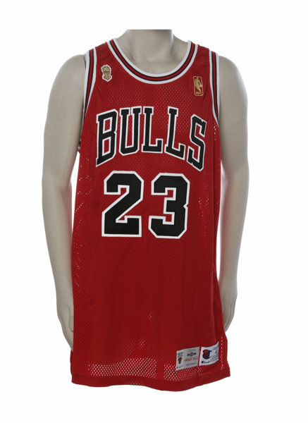 af8a81a6f21f 1996-97 Michael Jordan N.B.A. Finals Game Worn Jersey. While