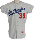 Baseball Collectibles:Uniforms, 1965 Los Angeles Dodgers Game Worn Uniform. A middle reliever who took over the mound when guys like Koufax and Drysdale go...