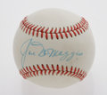 Autographs:Baseballs, Ted Williams & Joe DiMaggio Single Signed Baseballs. In 1941,these two American League superstars set batting marks that ha...