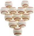 Autographs:Baseballs, Joe DiMaggio Single Signed Baseballs Lot of 12. With singlesenjoying a period of great interest in the collecting world, t...