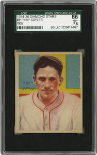 """1934-36 Diamond Stars """"Kiki"""" Cuyler #31 (Cubs) SGC NM+ 86. A star of the 20s and 30s, the HOFer is represented..."""