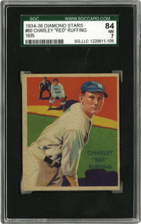 1934-36 Diamond Stars Red Ruffing #60 SGC NM 84. Only twice has SGC graded a Red Ruffing card higher than this one. A be...